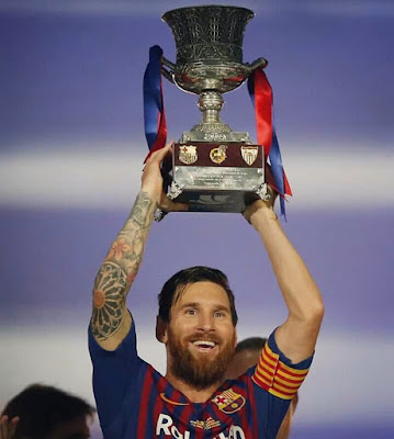 Lionel Messi Spanish super cup pic