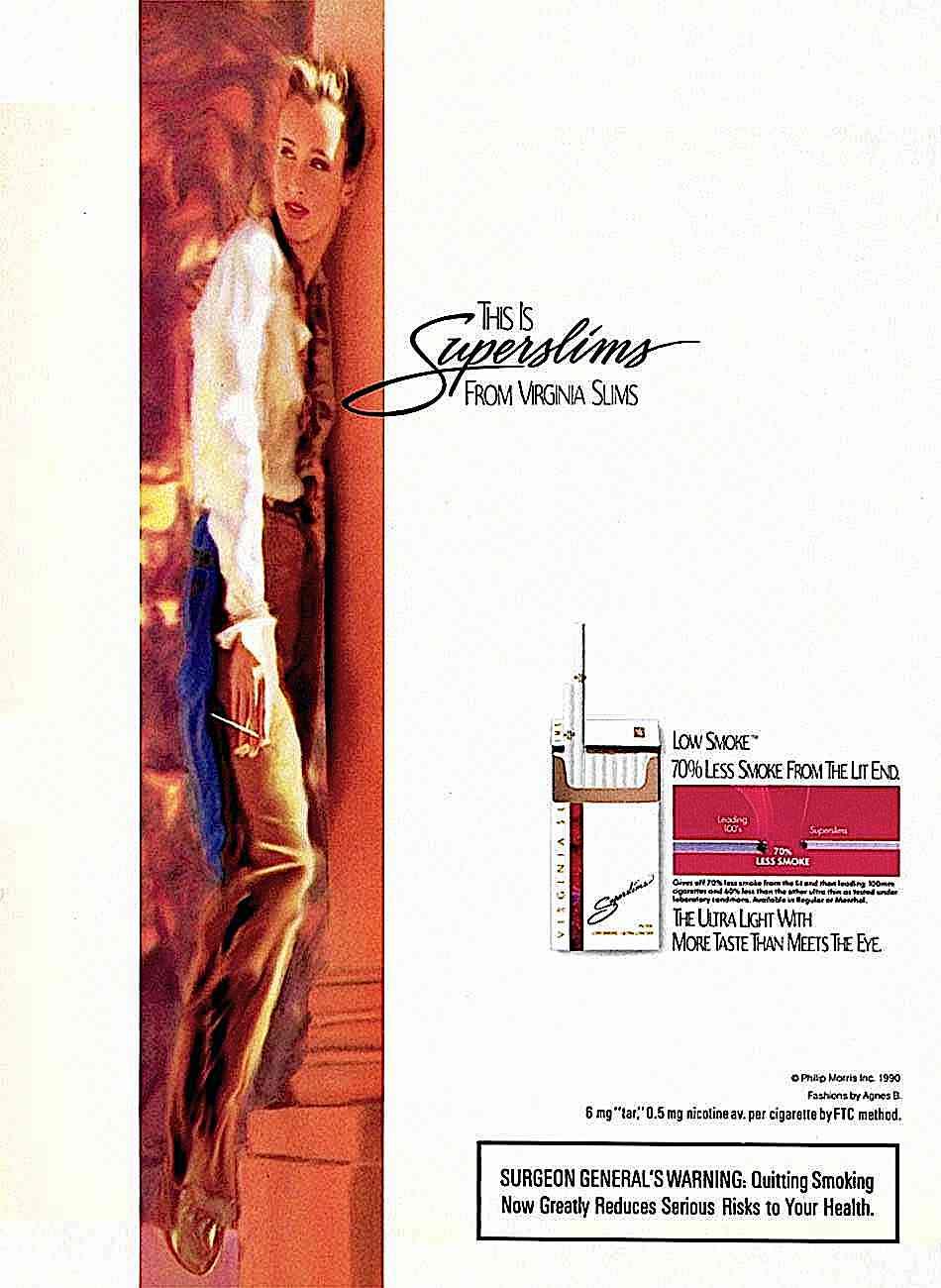 1972 Virginia Superslims advertisement