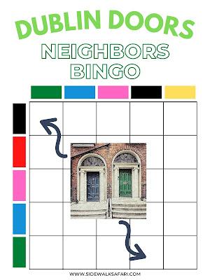 Dublin Doors Bingo Neighborhood Scavenger Hunt