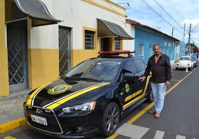 Prefeito Zé Parrella repassa Mitsubishi Lancer à Guarda Civil Municipal Ibaté