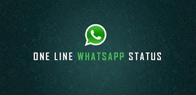 One Line Whatsapp Status in English