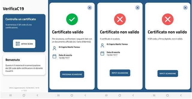 app verificac19 per il green pass