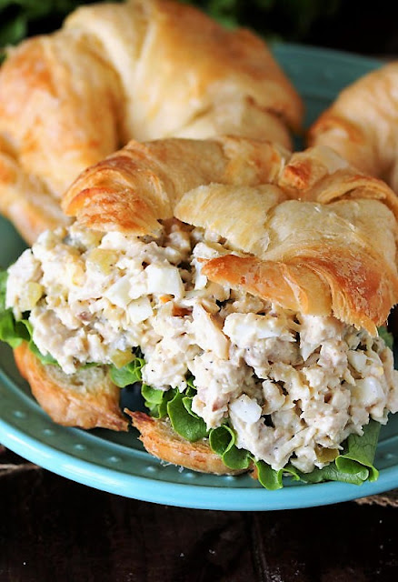 Southern Turkey Salad On a Croissant Image