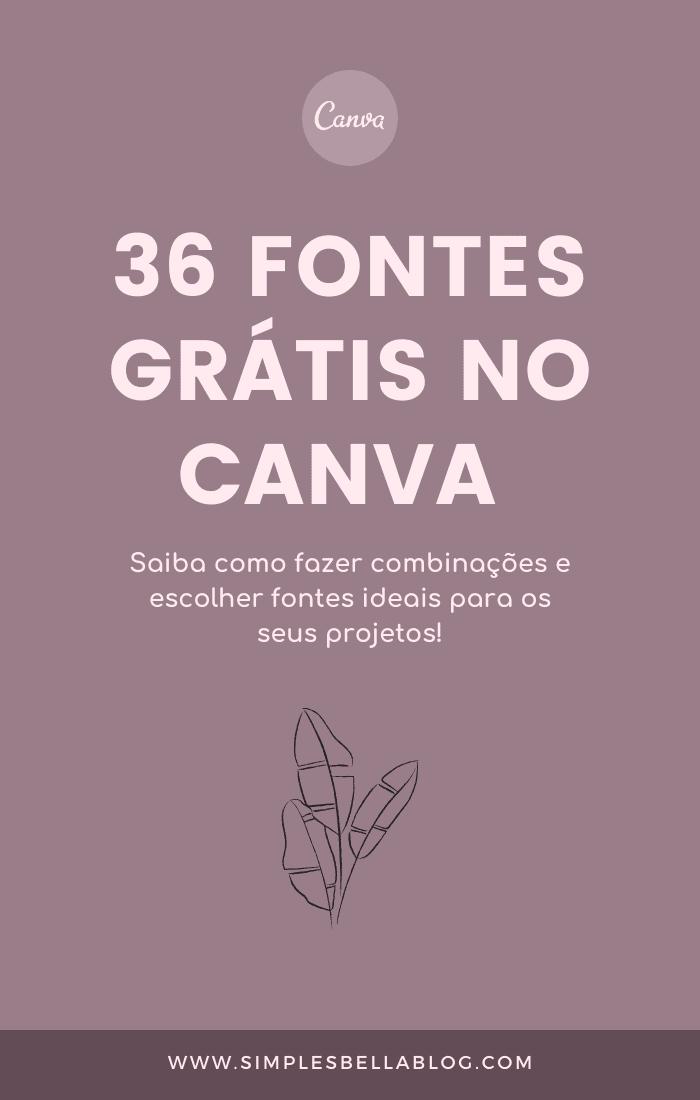 36 fontes grátis no Canva (manuscritas, serif e sans serif)