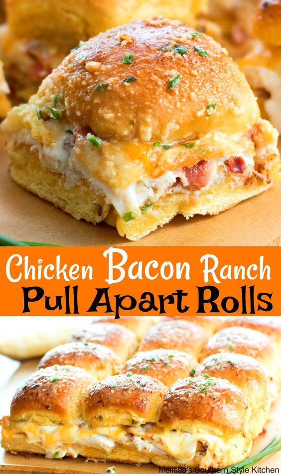 Chicken Bacon Ranch Pull Apart Rolls #recipes #tasty #tastyrecipes #food #foodporn #healthy #yummy #instafood #foodie #delicious #dinner #breakfast #dessert #lunch #vegan #cake #eatclean #homemade #diet #healthyfood #cleaneating #foodstagram