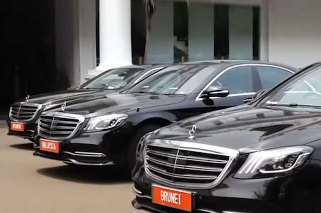 18 Unit Mobil Mercedes Benz Untuk Tamu Negara Disewa Tanpa Biaya