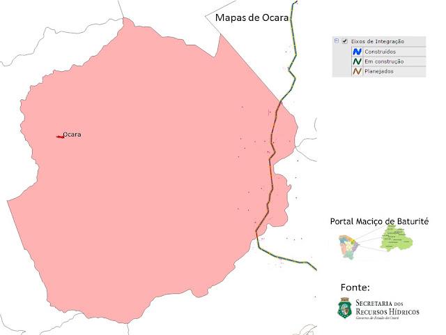 mapas de Ocara - Eixos de Integração