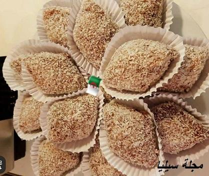 حلوة جافة بجوز الهند سهلة و اقتصادية مناسبة للعيد .مجلة سيليا