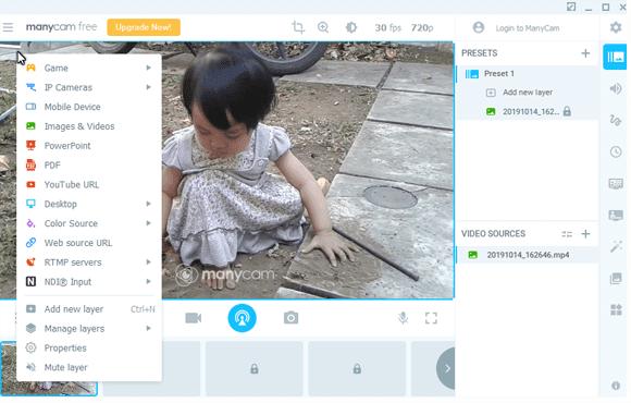 ManyCam Main Windows Streaming