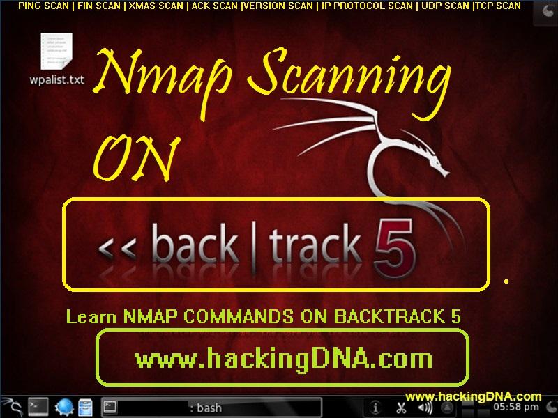 Nmap Scanning On Backtrack 5 | HackingDNA