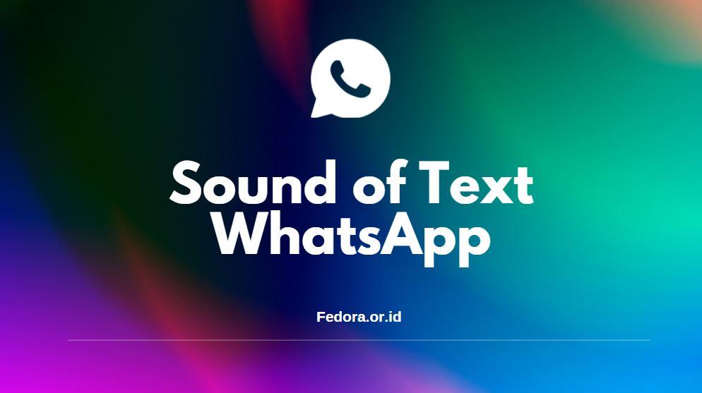 tutorial sound of text whatsapp