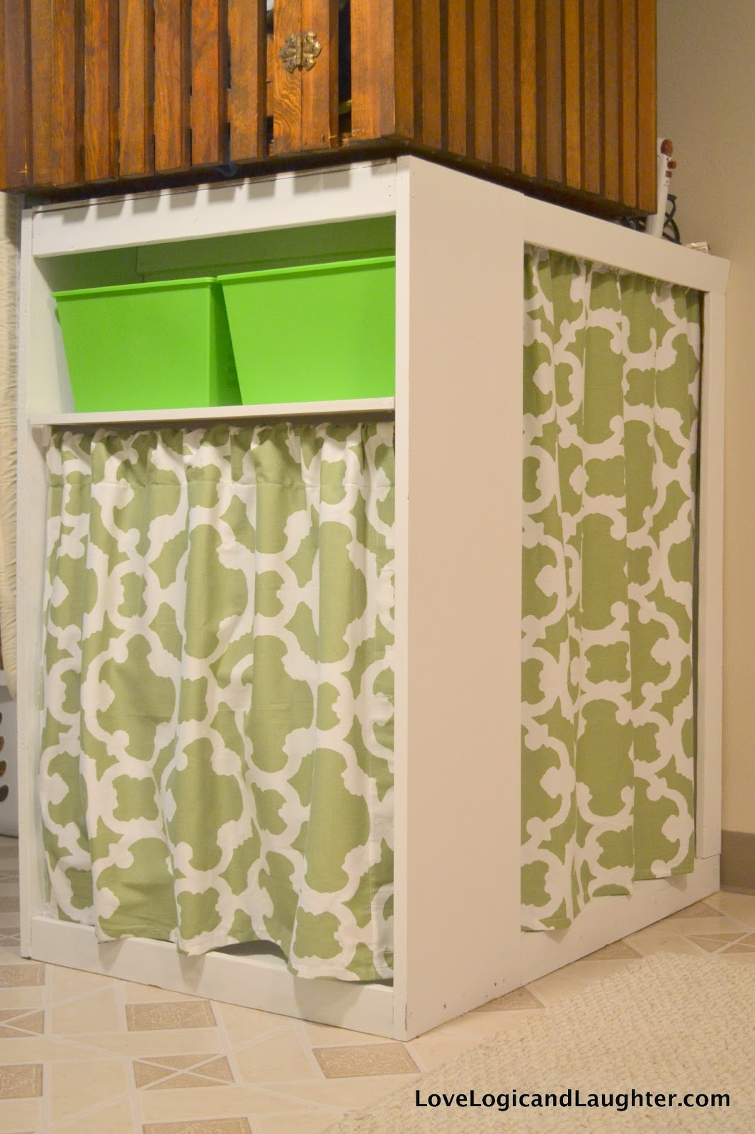 Diy Fold Away Ironing Board Amp Hanging Bins 187 Logic And