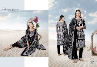 Muharram Black and White Cotton Dress wholesale price