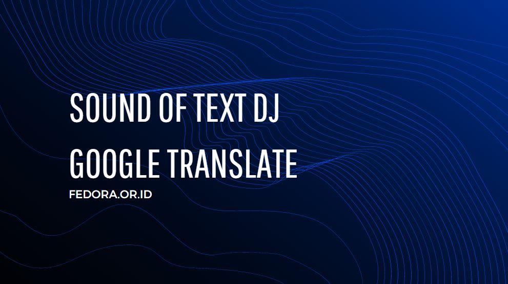 sound of text dj