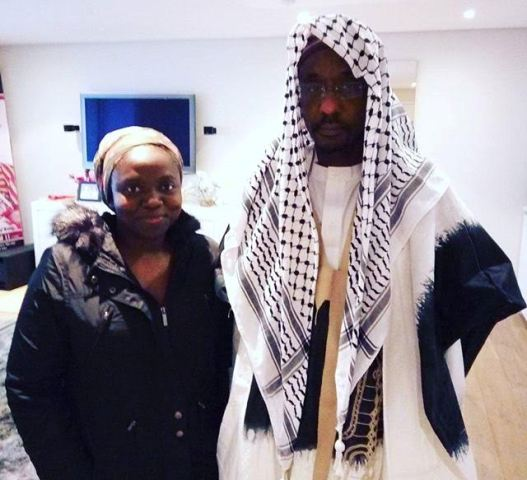 Emir of Kano pictured with Yunusa Dahiru's lawyer in London