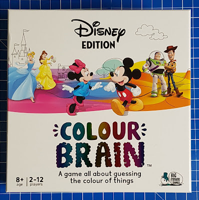 Disney Edition Colour Brain Game box shot with Disney figures dancing and text
