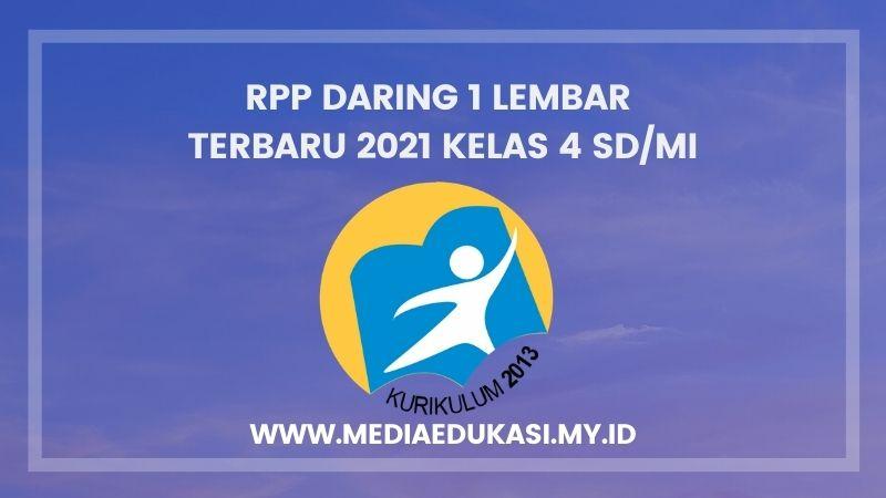 RPP Daring 1 Lembar Terbaru 2021 Kelas 4 SD/MI