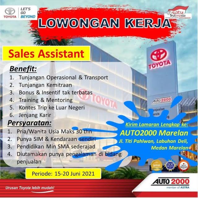 Lowongan Kerja Medan SMA SMK Juni 2021 Auto 2020 Sales