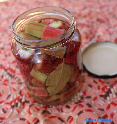 Carole's Chatter: Rhubarb Pickle