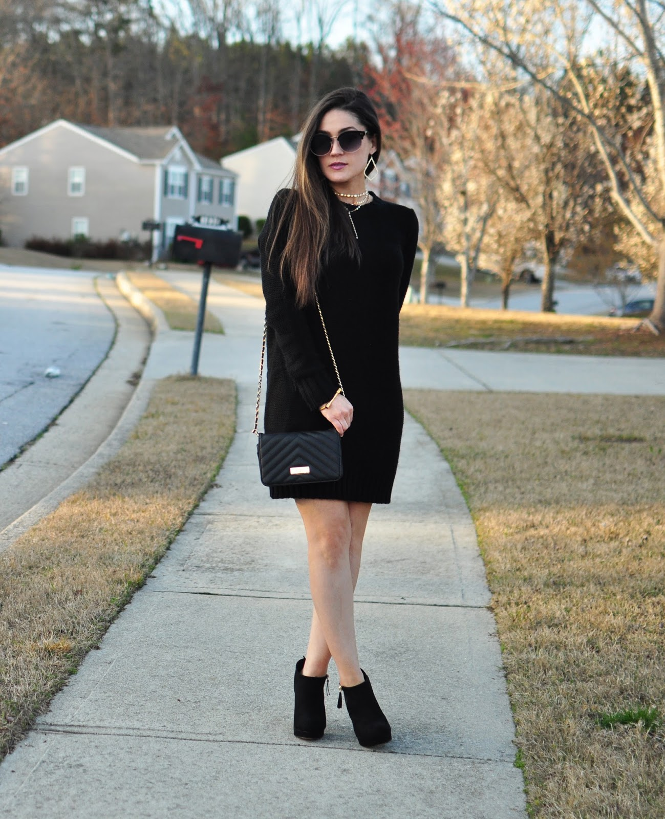Black Tobi Sweater Dress