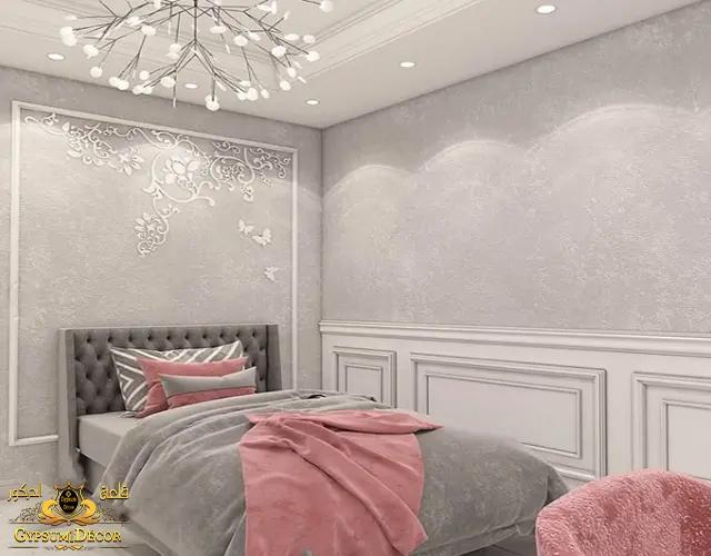 جبس بورد غرف نوم بسيط