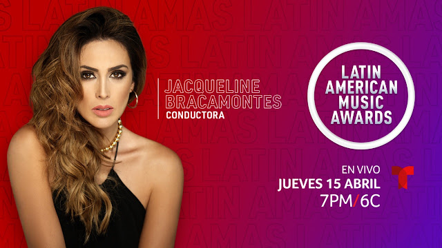 Jacqueline Bracamontes presenta Latin AMAs por Telemundo