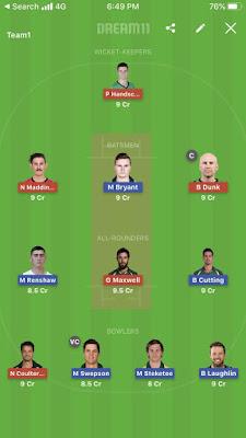 Star vs Brisbane 5th Match Dream 11 Prediction, Captain & Vice Captain
