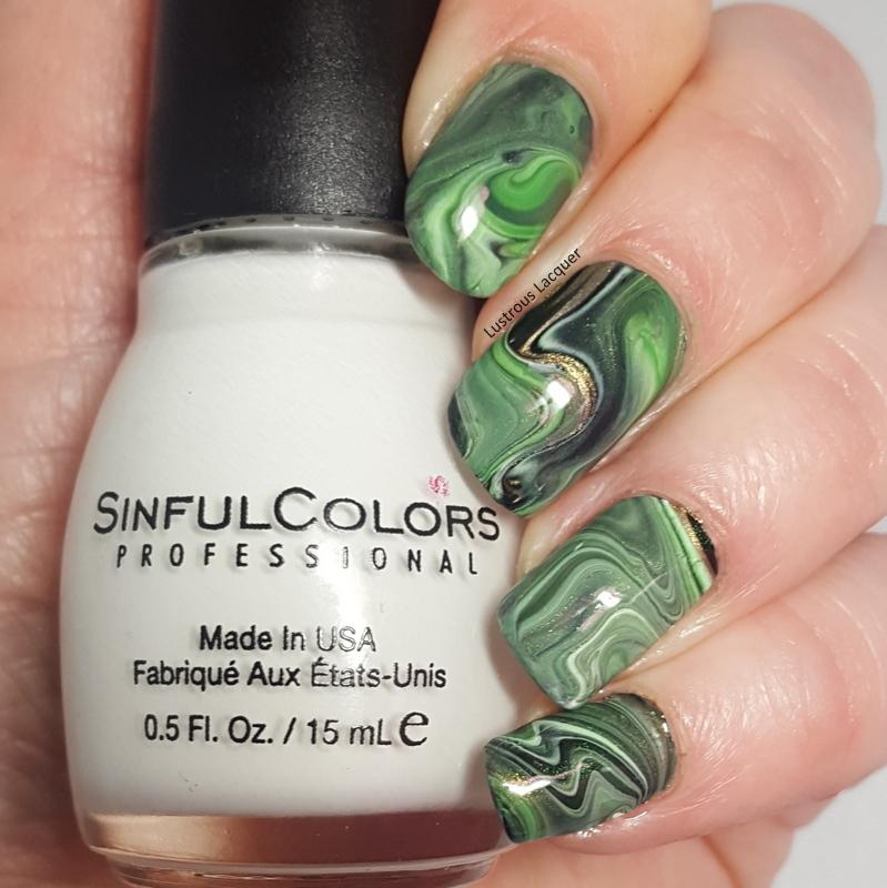 St. Patrick\'s Day Drip Marble Manicure - <em>Lustrous Lacquer</em>
