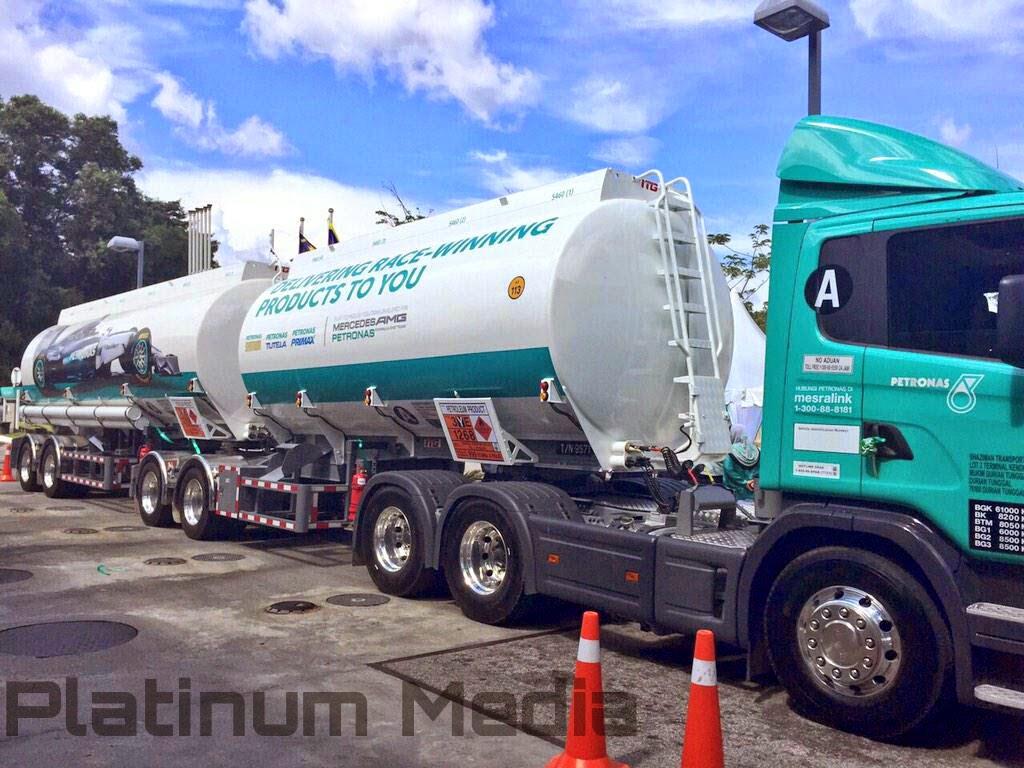 Gambar model terbaru lori tangki petroleum Petronas yang