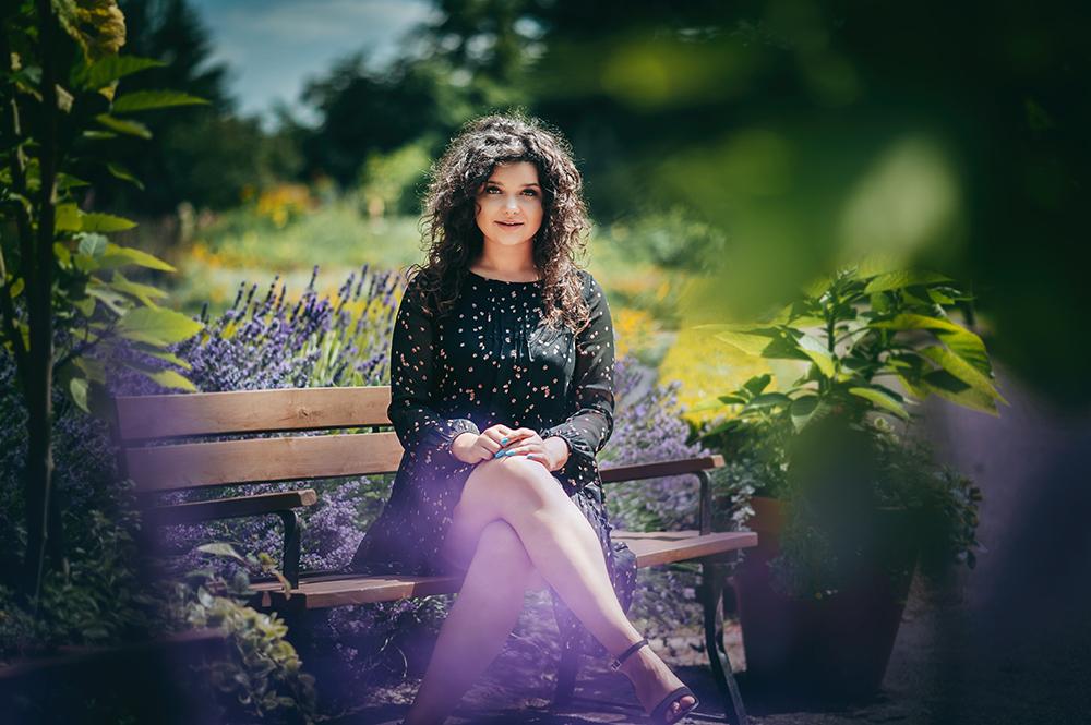 kobieta, ogród botaniczny, Lublin, fotograf, lawenda