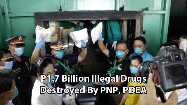 1.7 Billion Worth Of Illegal Drugs Destroyed By Authorities. Watch It!
