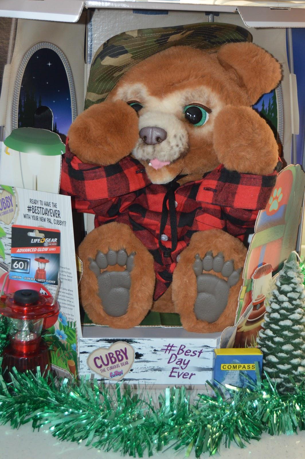 Cubby teddy bear