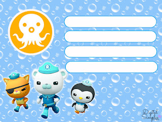 Octonauts Free Printable Invitations, Labels or Cards.