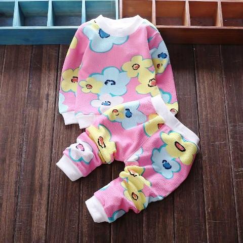 contoh baju stelan bayi lucu perempuan bermotif