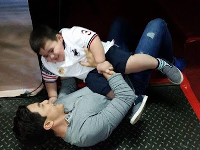 Alden and Baste playtime