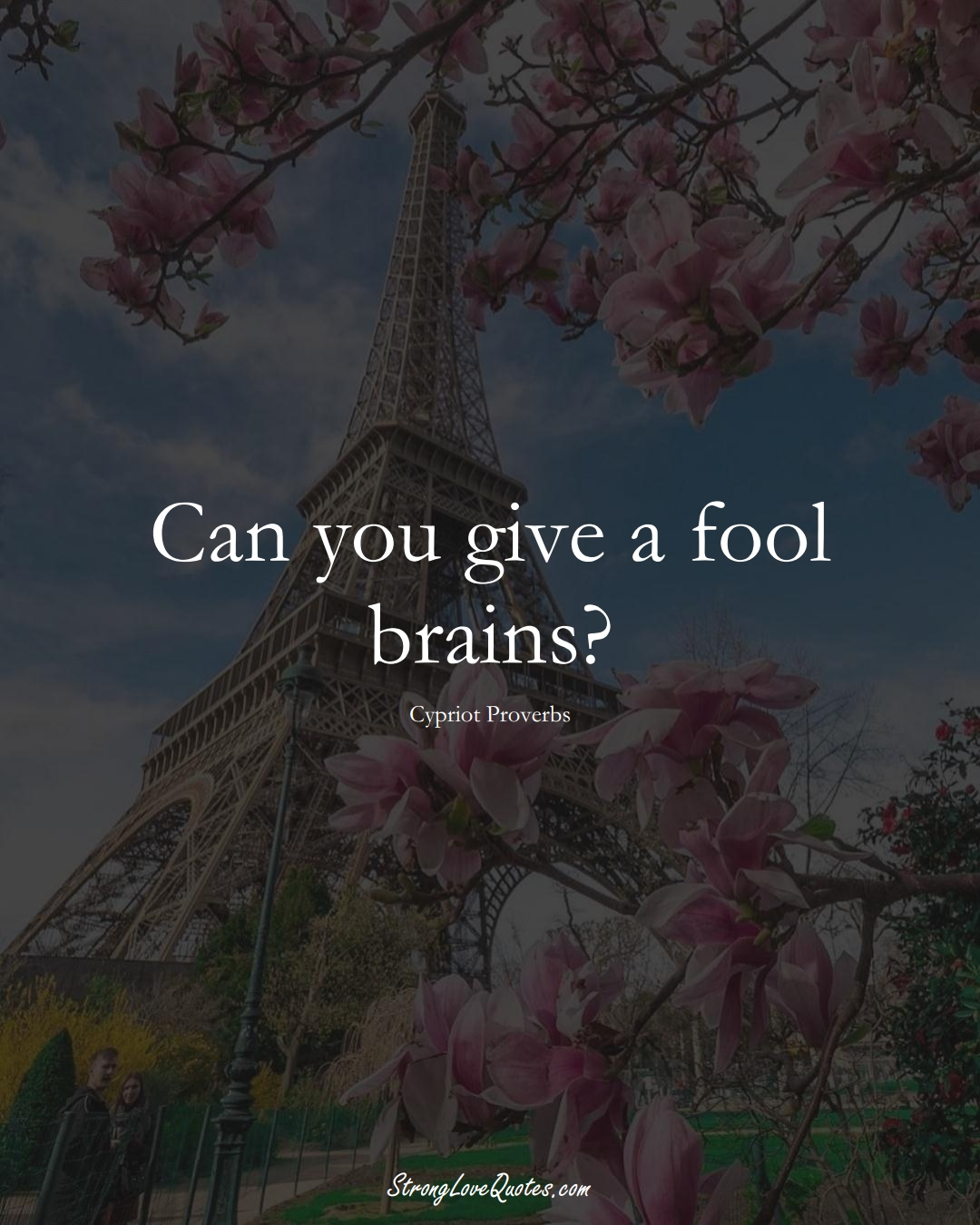 Can you give a fool brains? (Cypriot Sayings);  #MiddleEasternSayings