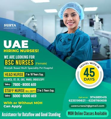 HIRING NURSES TO UAE - APPLY NOW