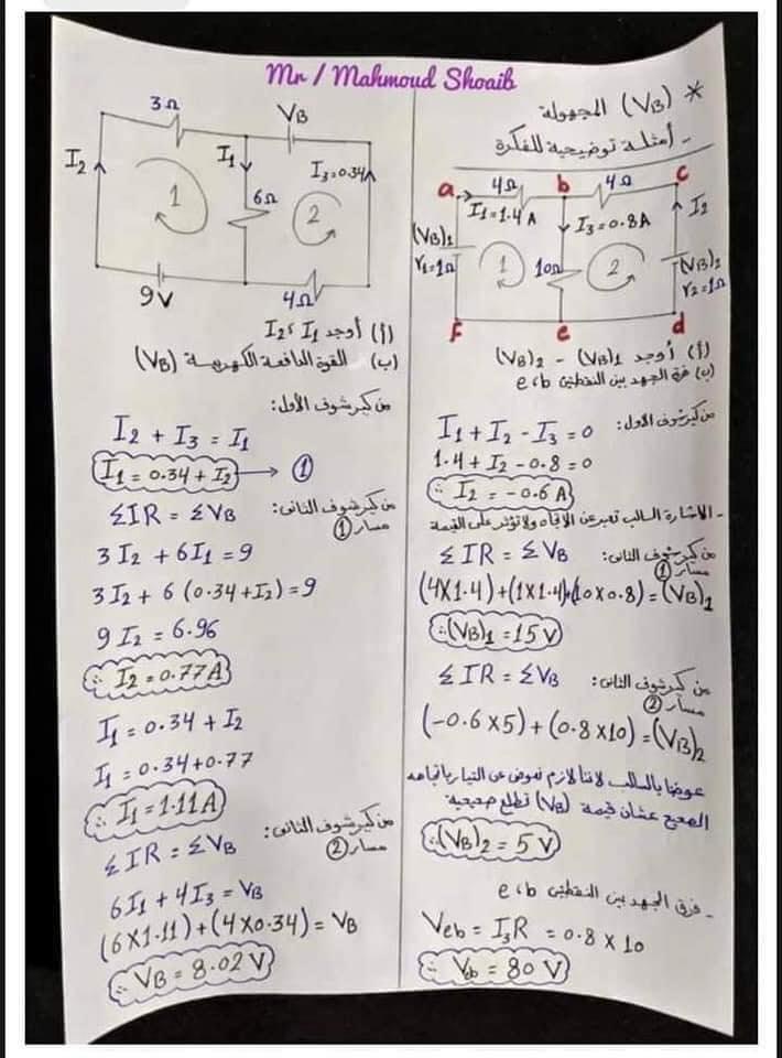 جميع أفكار مسائل الفصل الأول في الفيزياء للثانوية العامة - مهمة جداً 5