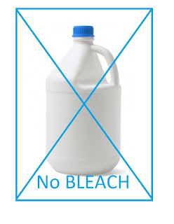 No Bleach on Microfiber Cloths