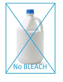 No Bleach on Microfiber Cloths