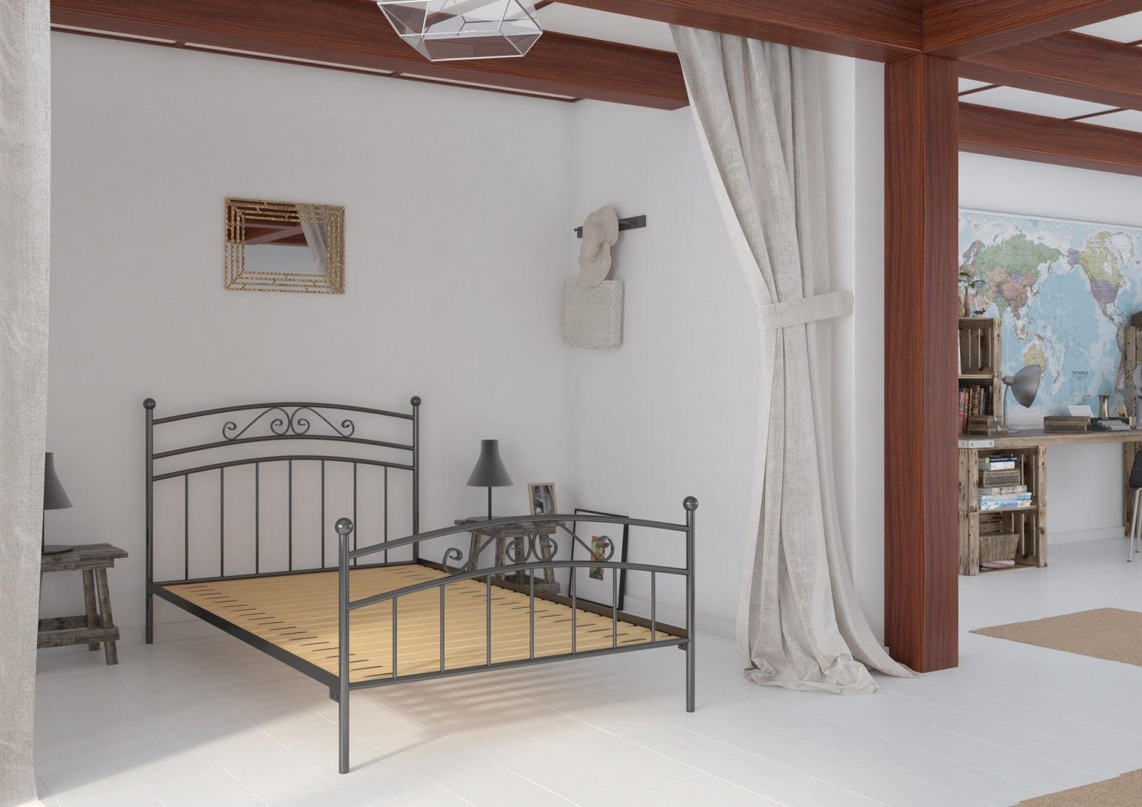 Łóżko metalowe wzór 36