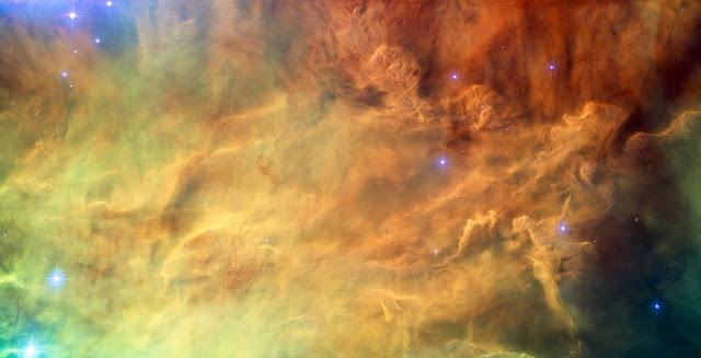 The centre of the Lagoon Nebula