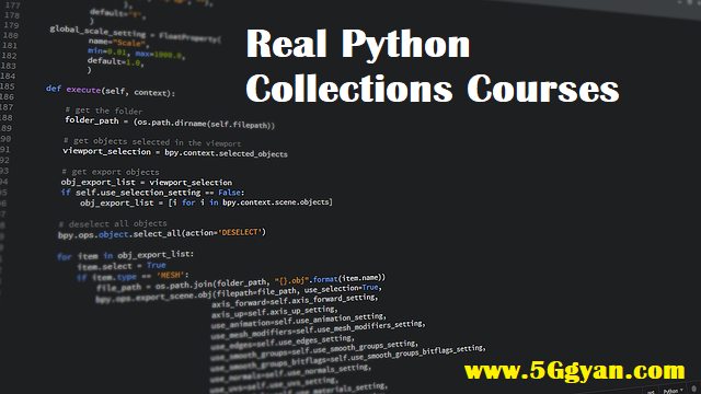 Real Python Collections Courses free download