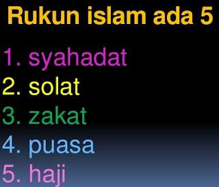 Rukun Islam terdiri dari Lima Perkara
