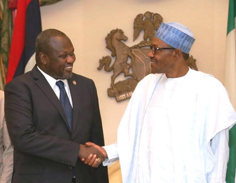 buhari south sudan vp nigeria