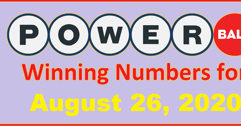 Powerball Winning Numbers For Wednesday August 26 2020