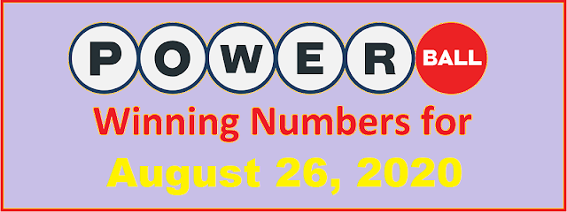 PowerBall Winning Numbers for Wednesday, August 26, 2020