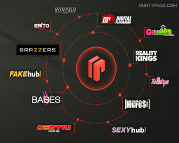 Mix of porn logos