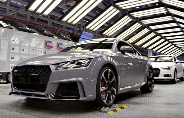 Audi TT RS producción