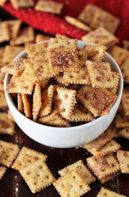 Bowl of Cinnamon Sugar Crackers Image
